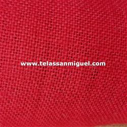 Tela de saco o arpillera color rojo