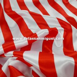 Raso carnaval raya blanca y roja
