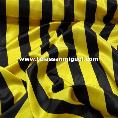 Raso carnaval raya amarilla y negra