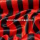 Raso carnaval raya roja y negra