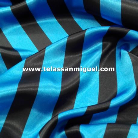 Raso carnaval raya  azul y negra