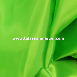 Raso liso verde fluor