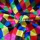 Raso carnaval estampado rombos multicolores