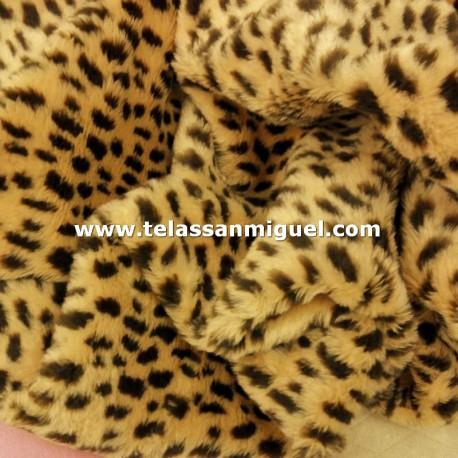 Peluche estampado gueopardo