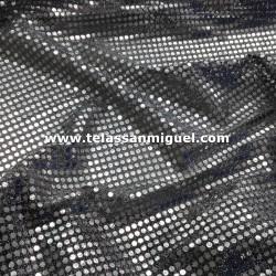 Lentejuela fantasía plata/negro