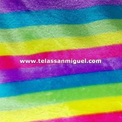 Peluche rayas multicolor