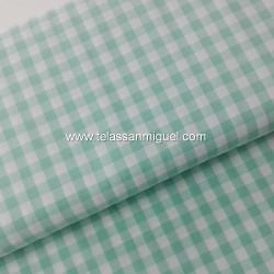 Vichy algodón cuadro verde claro