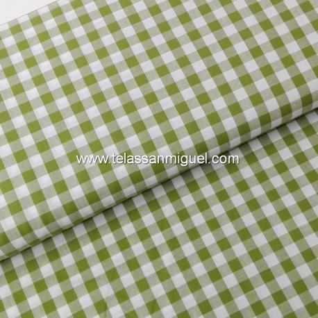 Vichy algodón cuadro verde