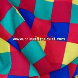 Strech cuadros multicolores