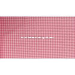 Vichy cuadro pequeño rosa