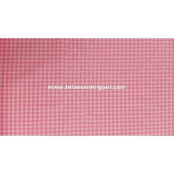 Vichy cuadro mediano rosa