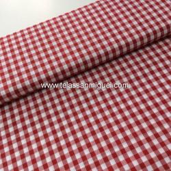 Vichy algodón cuadro rojo