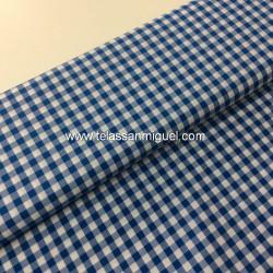 Vichy algodón cuadro azulón