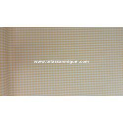 Vichy cuadro mediano amarillo