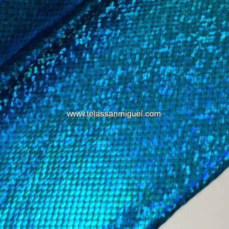 Punto escamas azul turquesa