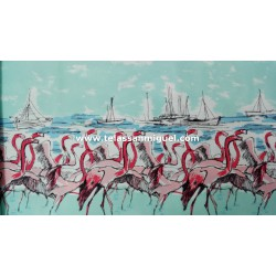 Algodón Patchwork americano modelo Flamingo