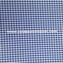 Vichy cuadro pequeño azul