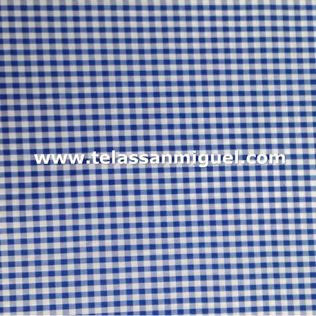 Vichy cuadro grande azul
