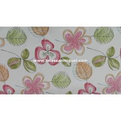 Loneta floral trebol (Ancho 140cm)