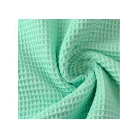 Tela waffle verde agua