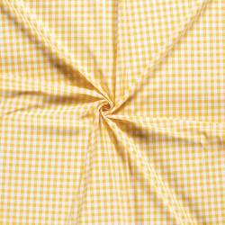 Vichy algodón cuadro amarillo