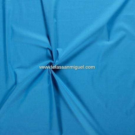 Algodón liso azul