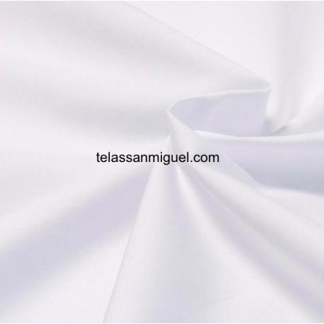 Popelín algodón 100% blanco Hidrófugo Antibacteriano