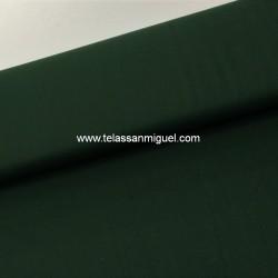 Algodón liso verde oscuro