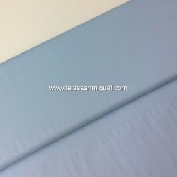 Algodón liso azul claro