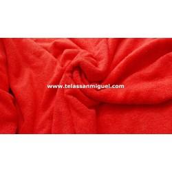 Toalla o felpa roja